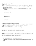Quiz-vocabulary, quotation marks, prepositions and preposi