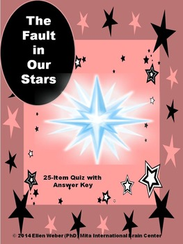 Quiz with Answer Key for The Fault of Our Stars - No Prep