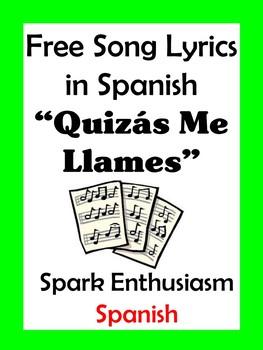 Quizas Me Llames Song Lyrics en espanol / Call Me...