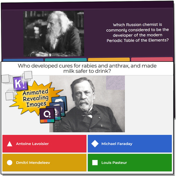Scientist Trivia - Quizizz, QR Codes, and Kahoot!