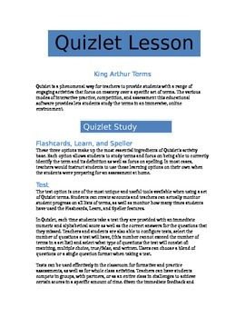 Quizlet - King Arthur Terms