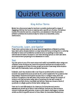 Quizlet - King Arthur Terms