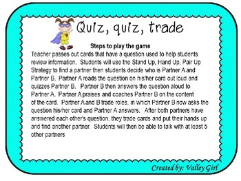 Superhero theme: Quiz,quiz, trade: Sentence or Not a sentence