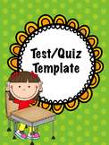 Quiz/test template