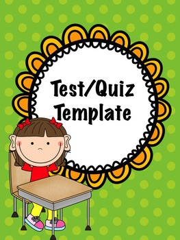 Quiz/test template
