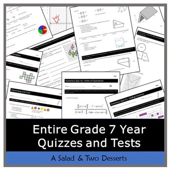 Quizzes & Tests - Middle School: Grade 7 Year