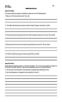 Quizzes for William Shakespeare's Hamlet