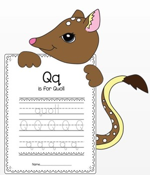 "Quoll Craft and Letter ""Q"" Crafts"