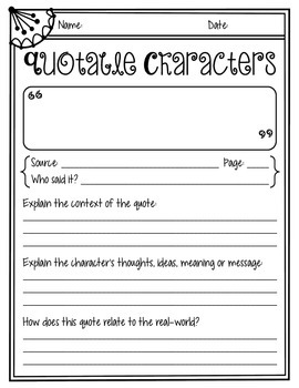 Quotable Characters {Freebie}