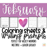 Quotable Coloring Sheets: February