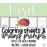 Quotable Coloring Sheets: March