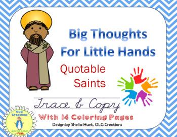 Quotable Saints - Cursive Copywork