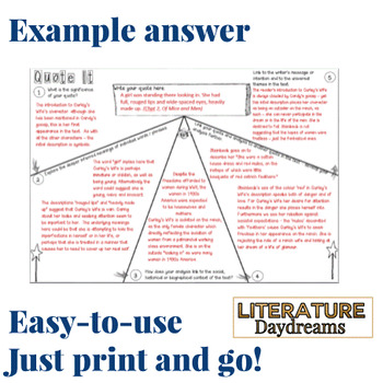 Quotation Analysis for any literature text