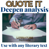 Quotation Analysis For Any Text