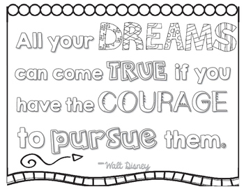 Quotation Art- Inspirational Quote Pages with Hallway Display