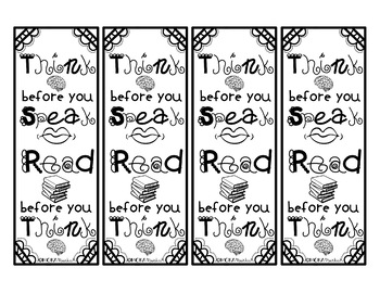 Print and Color Bookmarks with Motivational Quotes