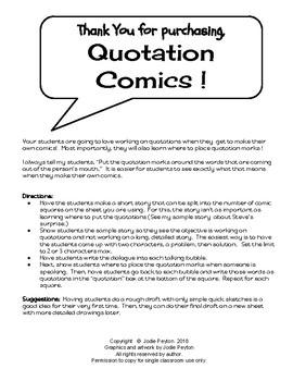 Quotation  Comics !  No Prep