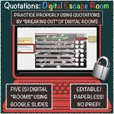 Quotation/Dialogue Digital Escape (Breakout) Rooms