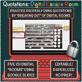Quotation/Dialogue Digital Escape (Breakout) Rooms