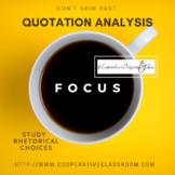 Quotation Explication, Analysis, Rhetorical Moves, Explana