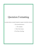 Quotation Formatting Guide