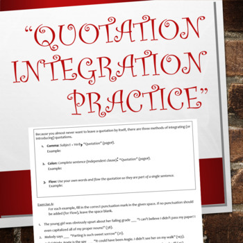 Quotation Integration Practice