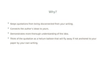 Quotation Integration for Formal Writing