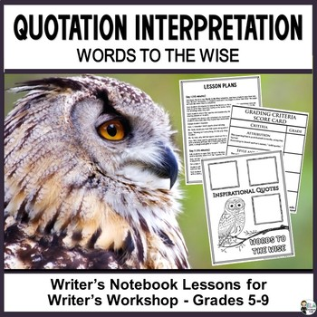 Quotation Interpretation: Words to the Wise Journaling and Drafting Pages