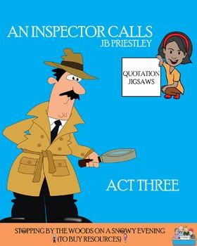Quotation Jigsaw - 'An Inspector Calls' - Act Three