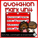 Quotation Mark Activities, Worksheets, and Quizzes