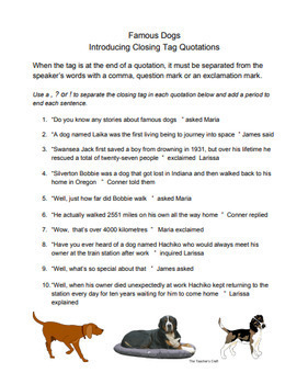 Quotation Punctuation Hero Themed Worksheet Pack