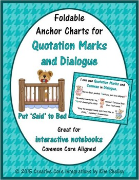 Quotation Mark Anchor Charts and Flipbook