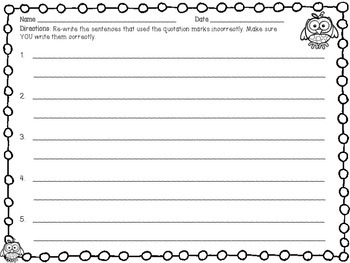 Quotation Mark Cut and Sort