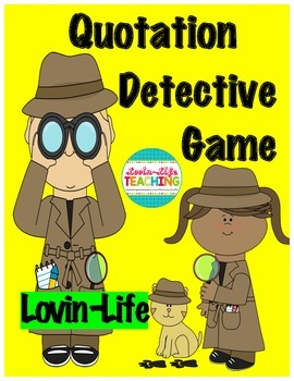 Quotation Mark Detective Game