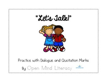 Quotation Mark Activities  {Practice with Dialogue}