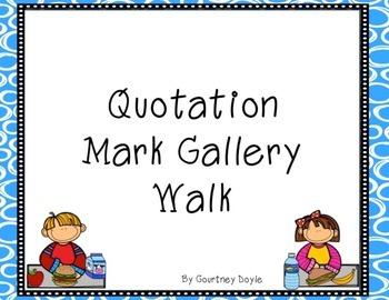 Quotation Mark Gallery Walk/Scoot