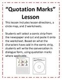 Quotation Mark Lesson using comics (8 pgs)