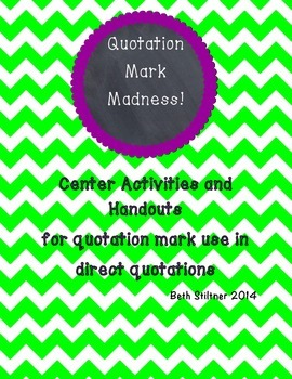 Quotation Mark Madness
