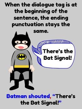 Quotation Mark Posters (Superhero Theme)