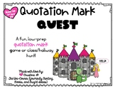 Quotation Mark Quest! Low-Prep Game for Quotation Marks in
