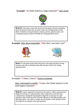 Quotation Mark Rules and Examples