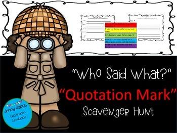 Quotation Mark Scavenger Hunt