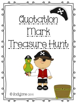 Quotation Mark Treasure Hunt