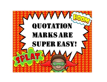 Quotation Marks PowerPoint and More!