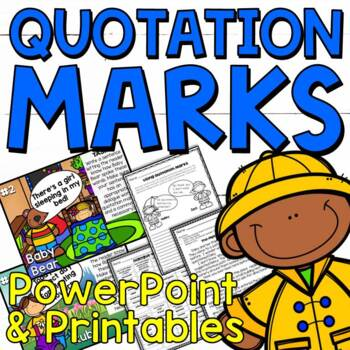 Using Quotation Marks in Dialogue Worksheets and PowerPoint by ...