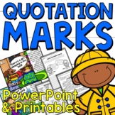Using Quotation Marks in Dialogue PowerPoint and Printable