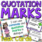 Using Quotation Marks and Commas in Dialogue Task Cards fo