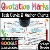 Quotation Marks in Dialogue: Rules Charts and Task Cards