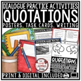 Digital Quotation Marks & Dialogue Worksheets, Grammar Posters, Punctuation