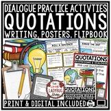Digital Quotation Marks & Dialogue Worksheets, Grammar Pos